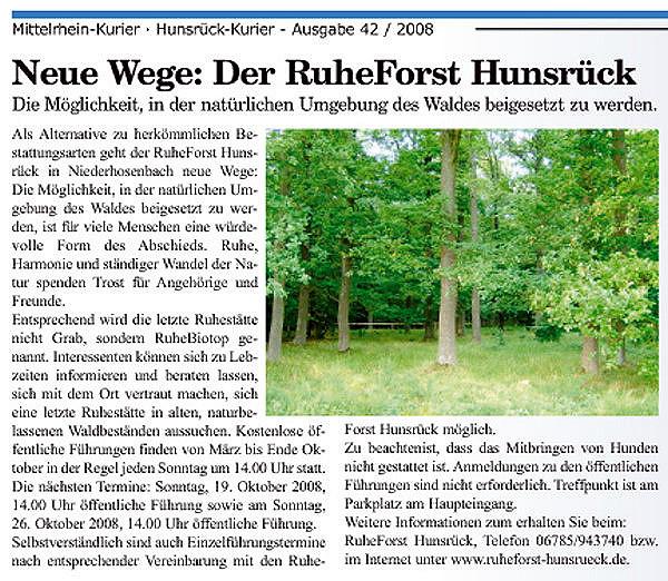 Hunsrück-Kurier vom 15.10.2008